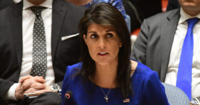 Канада проголосовала против Израиля. Хейли: «Совет ООН — помойная яма. Канада заключила сделку с сатаной»