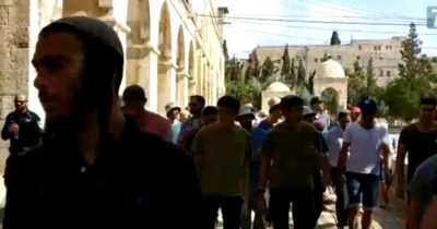 Более тысячи евреев посетили Храмовую гору