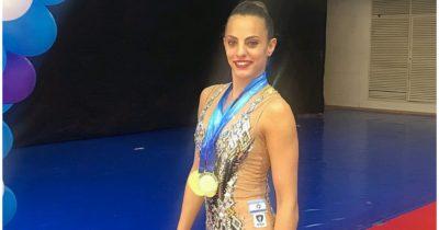 Израильская гимнастка Лина Ашрам установила мировой рекорд на чемпионате мира и выиграла золото
