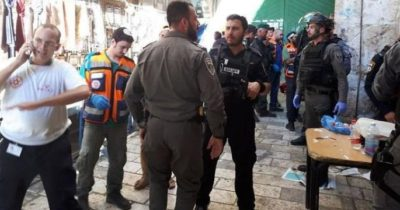 Нападение на полицейского в Иерусалиме (видео)