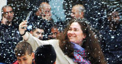 В Хайфу привезли снег. Выстроилась очередь (фото — видео репортаж)