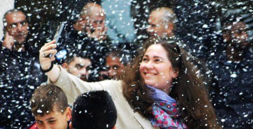 Снег и пальмы, Хайфа. В Хайфу привезли снег