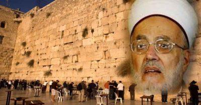 В Иерусалиме «Стена Плача, на самом деле — Аль-Бурак. Нет ни одного камня, связанного с еврейской историей»