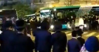 Автобус въехал в толпу харедим