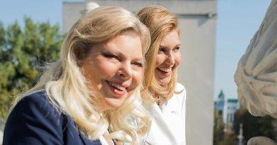 Сара с женой Зеленского Еленой