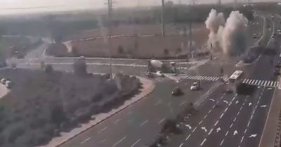 Кадры атаки из Газы по шоссе