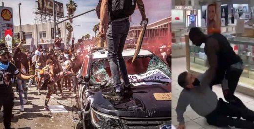 избиение протесты сша