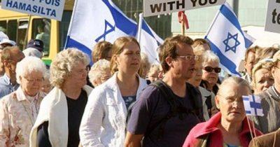 Произраильский протест в Финляндии