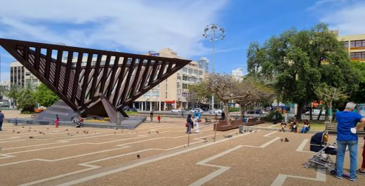 Тель Авиве, на площади Рабина