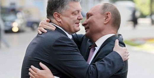 путин-порошенко-целуются-обнимаются
