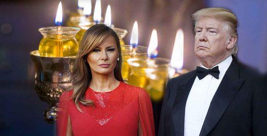 Трамп Мелания красотка евреи Ханука