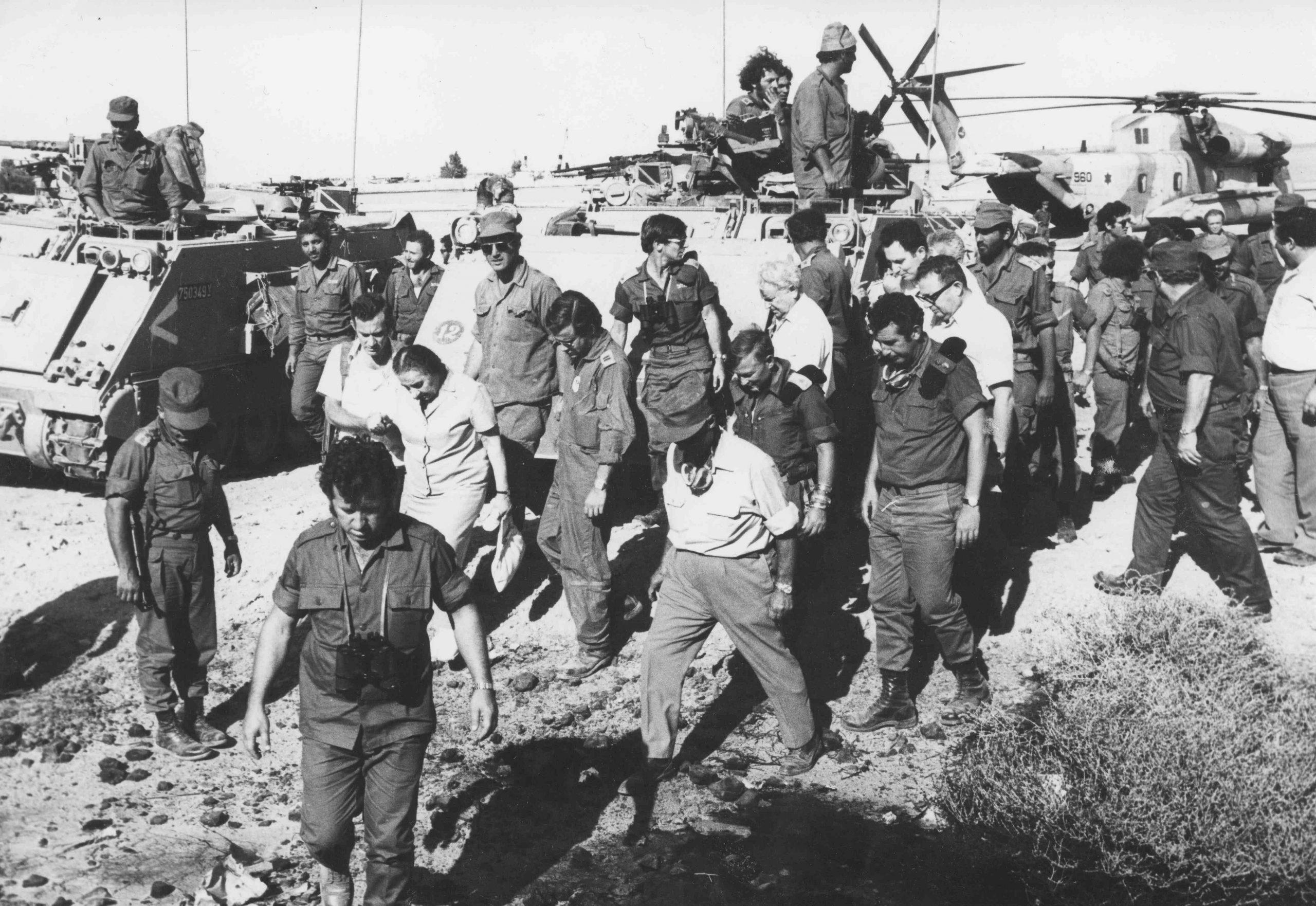 Премьер-министр Голда Меир во время войны Судного дня (министерство обороны).