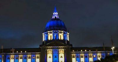 Достопримечательности по всему миру подсвечивались синим и белым светом в честь Дня независимости Израиля
