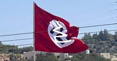 Палестинцы установили флаг нацисткой Германии возле Бейта